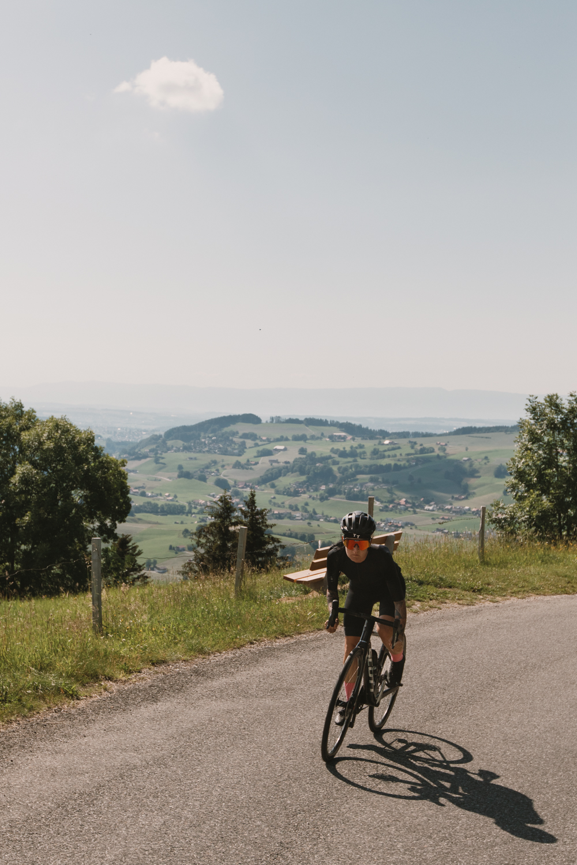 Rennrad mit Nina W. im Gantrischgebiet