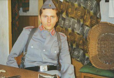 Stefan Brosch als junger Soldat