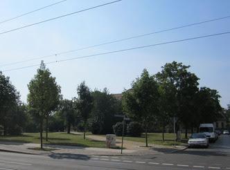 Otto-Runki-Platz im heutigen Zustand