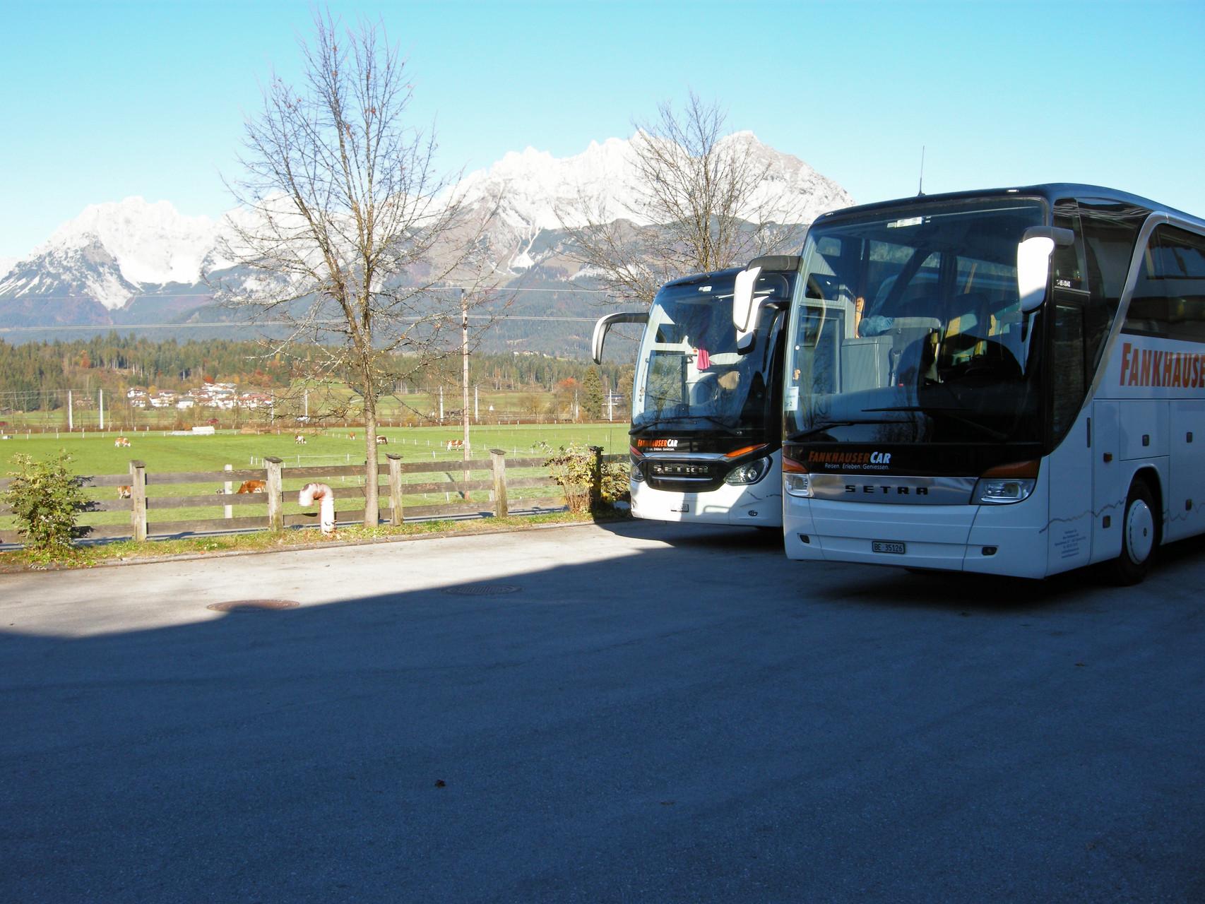 Bereit zur Abfahrt nach Salzburg