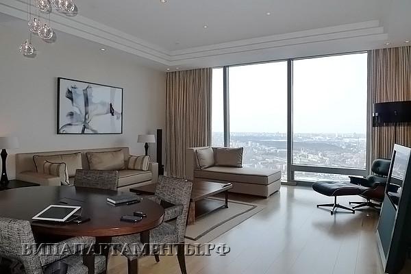 Аренда двухкомнатных апартаментов в башне Федерация.