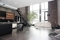 "ID 0211 ""TriBeCa Apartments"" Трибека Апартментс - двухуровневый апартамент в аренду."