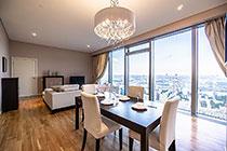ID 075 ЖК Город Столиц башня Москва - двухкомнатный апартамент в аренду.