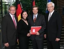Das Foto zeigt von links: Franz-Josef Holzenkamp MdB, Gitta Connemann MdB, Enak Ferlemann MdB, Dr. Hermann Kues MdB in Berlin.