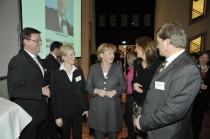 Landesgruppenvorsitzender Michael Grosse-Bröme rmit Bundeskanzlerin Angela Merkel und Staatssekretär Enak Ferlemann