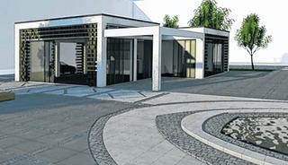 """Gläserne Fronten, Transparenz und viel Platz für Außengastronomie: Das Konzept des Aachener Investors ist angelehnt an das """"Ferbers"""" im Park an der Burtscheider Kapellenstraße."""