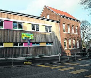 Unter anderem soll die Grundschule Bischofstraße in Büsbach eine neue Turnhalle erhalten. Foto: M. Leister