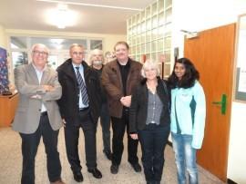 Auf dem Foto sind zu sehen (v.l.n.r.): Ludwig Hahn, Klaus Berghausen, Ben Grendel, Markus von der Stein sowie Birgit und Cristin Berghausen