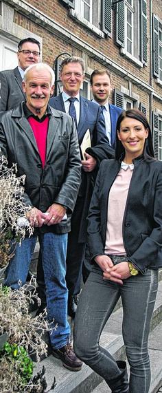 Setzen auf eine zahlreiche Beteiligung der Bürger: Tim Grüttemeier (v.l.), Gerd Schnitzler, Klaus Wohnaut, Robert Voigtsberger und Karolina Bednarova. Foto: M. Grobusch
