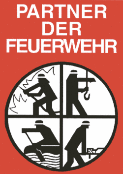 Partner der Feuerwehr - Förderschild des Feuerwehrverband Wetzlar e. V.