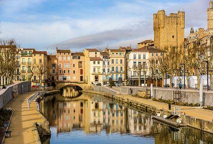 Le pont des Marchands à Narbonne, l'un des rares ponts habités