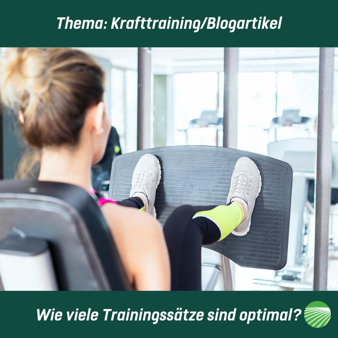 Wie viele Trainingssätze sind optimal?