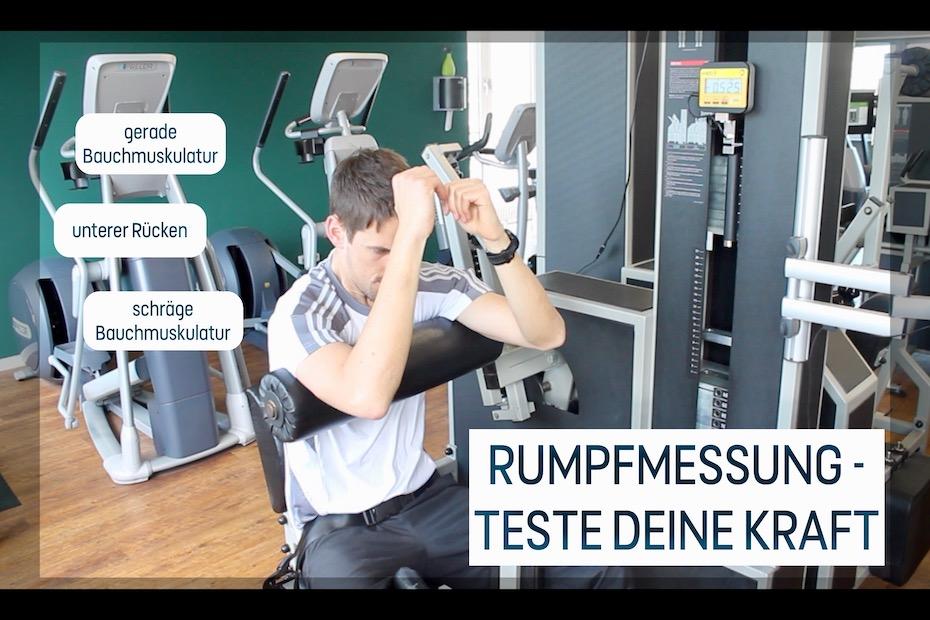 Rumpfmessung - Wie stark sind deine Bauch- und Rückenmuskeln?