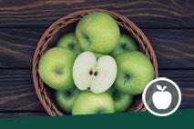 Ein Korb Äpfel