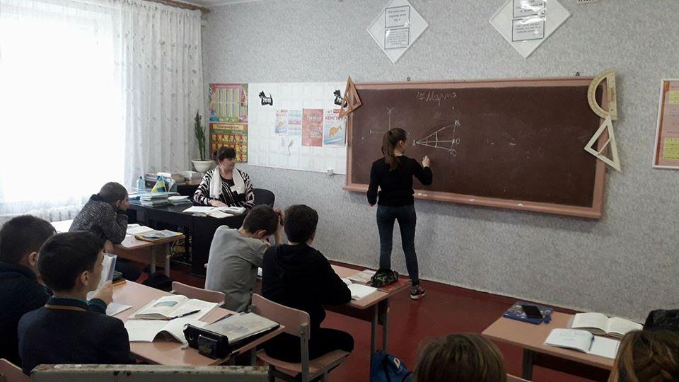 Урок алгебри, 7-А клас