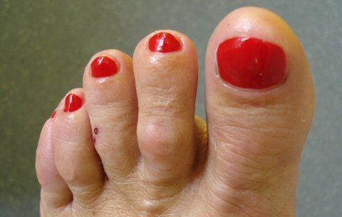 Das professionelle Endresultat ist auch für offene Schuhe geeignet.