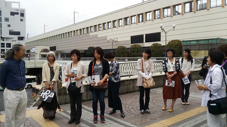 JR宇都宮駅 餃子の像前に集合