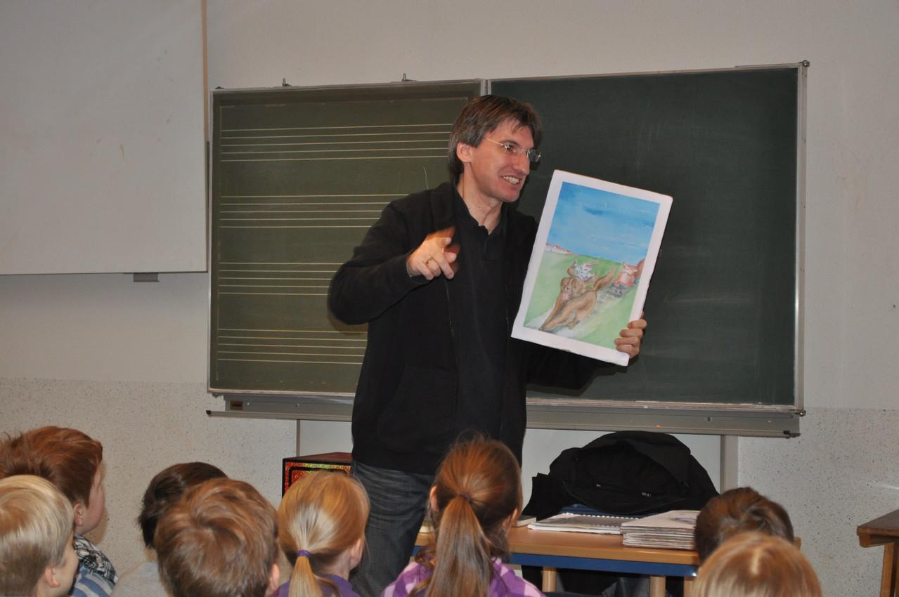 Autorenlesung mit Herrn Koller.