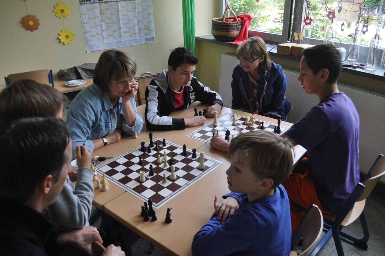 Wer wollte, konnte sein Können beim Schachspiel beweisen.