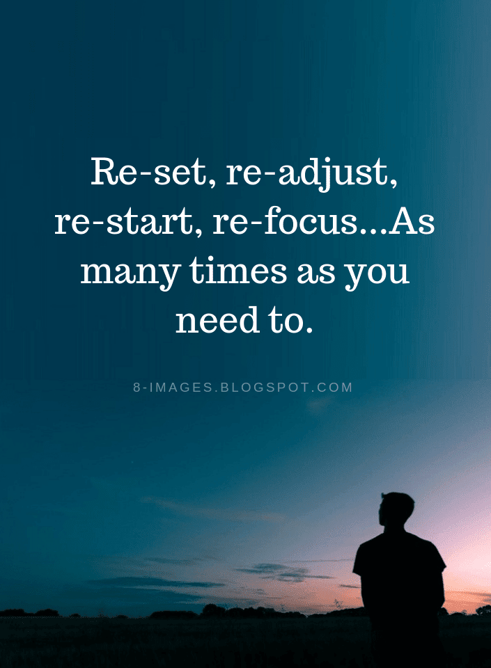 When You're Tired, Rest and Reset