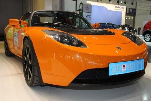 Tesla Roadster auf der AMI in Leipzig