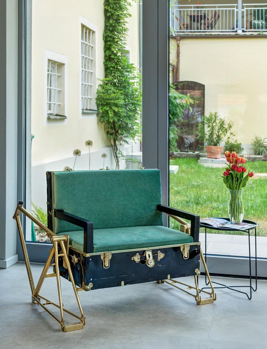 Fahrrad Koffersessel #nr4 Green Spirit Hotel Regensburg