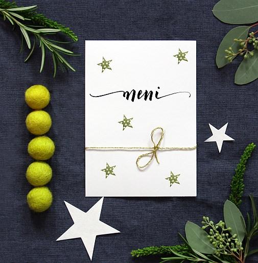 pogrinjek kaligrafija štampiljke rubberstamps pribor zlati pribor xmas božič dekoracija table set tisch decken weihnachten besteck gold