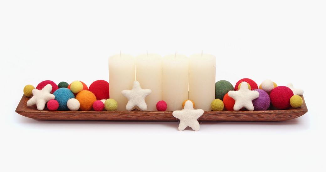 advent adventskranz gift wrapping felt balls kroglice iz filca filzkugeln garndundmehr kvačkanje crochet geschenkeverpacken weihnachten zavijanje daril xmas x-mas christmas inspiration inspiracije