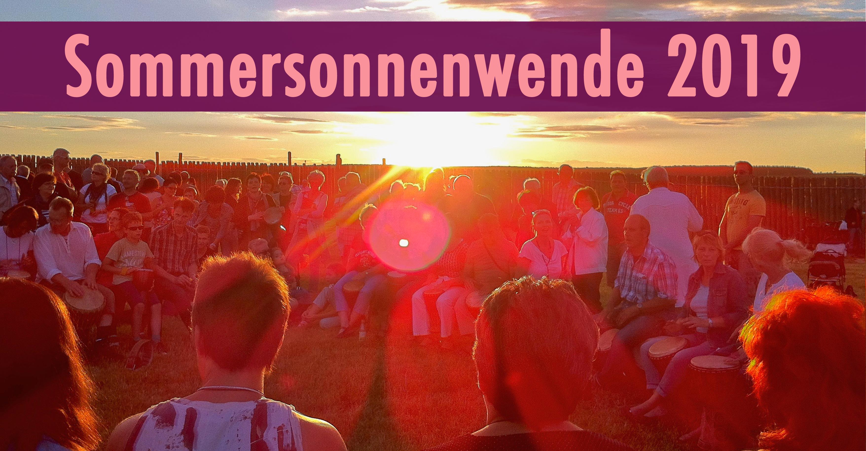Sommersonnenwende Trommeln in der Trommelschule Yngo Gutmann 2019