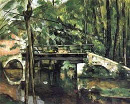 Paul Cézanne, Le pont de Maincy, 1879-80, Museo d'Orsay, Parigi)