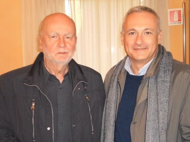R. Deidier con A. Zagaiewskj, fotografia di Dino Ignani