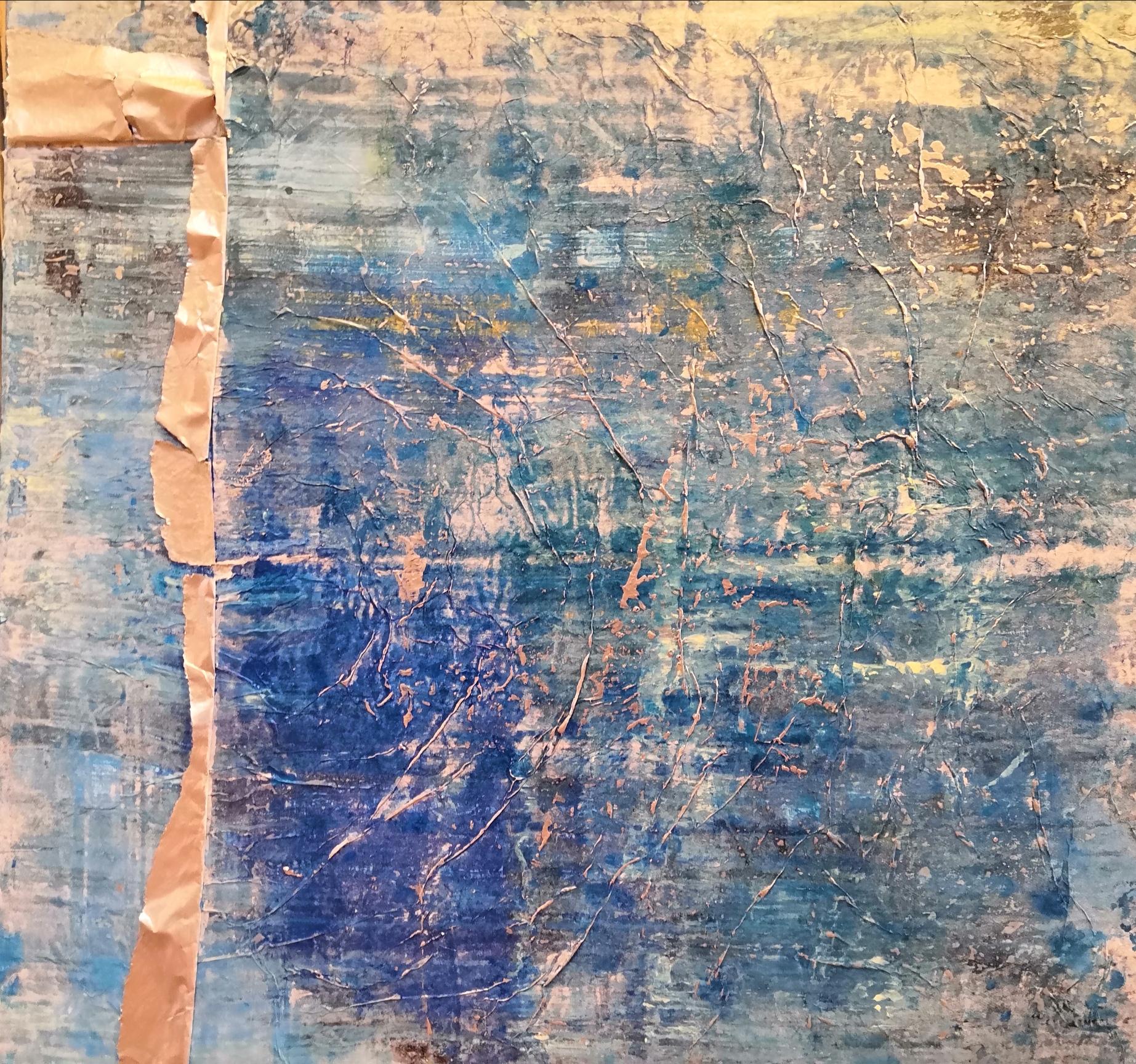 Silberscheif, 80 x 80 cm, Mischtechnik auf Leinwand