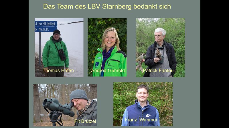 Die Organisatoren und Referenten des Vogelbestimmungskurses