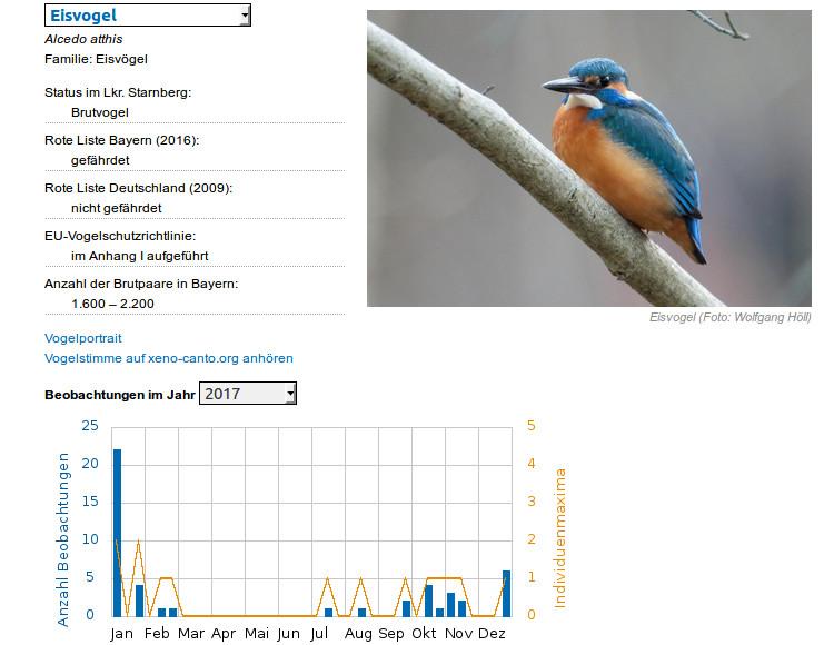 ASO: Datenbank zu den Vogelarten im Landkreis