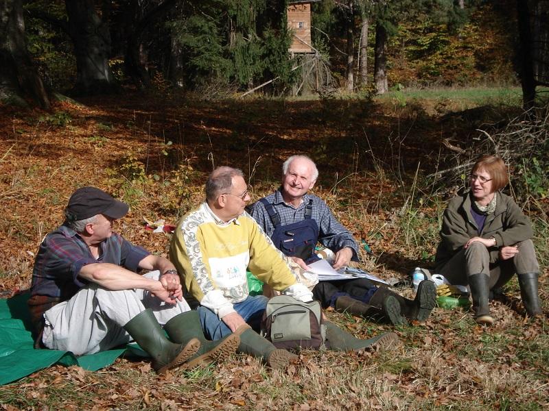 Landschaftspflege: Brotzeitpause