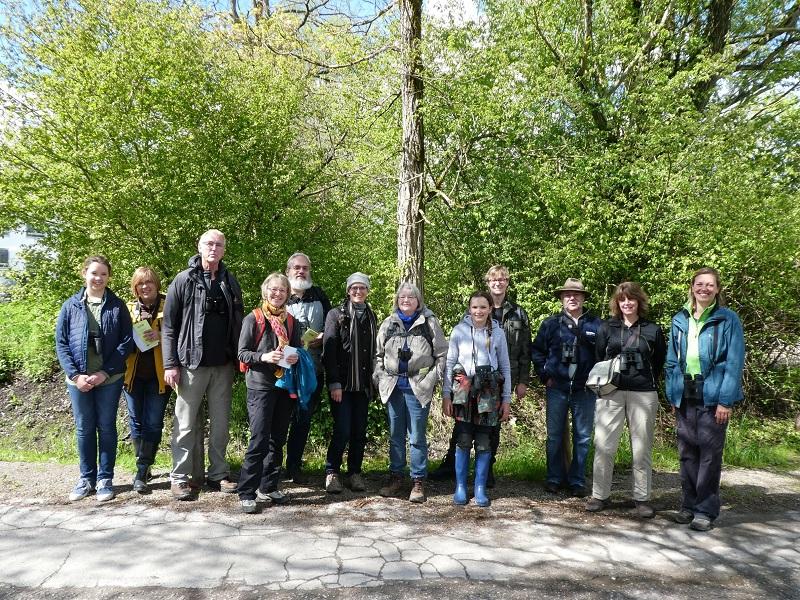 Bildungsarbeit: Exkursion beim Vogelbestimmungskurs