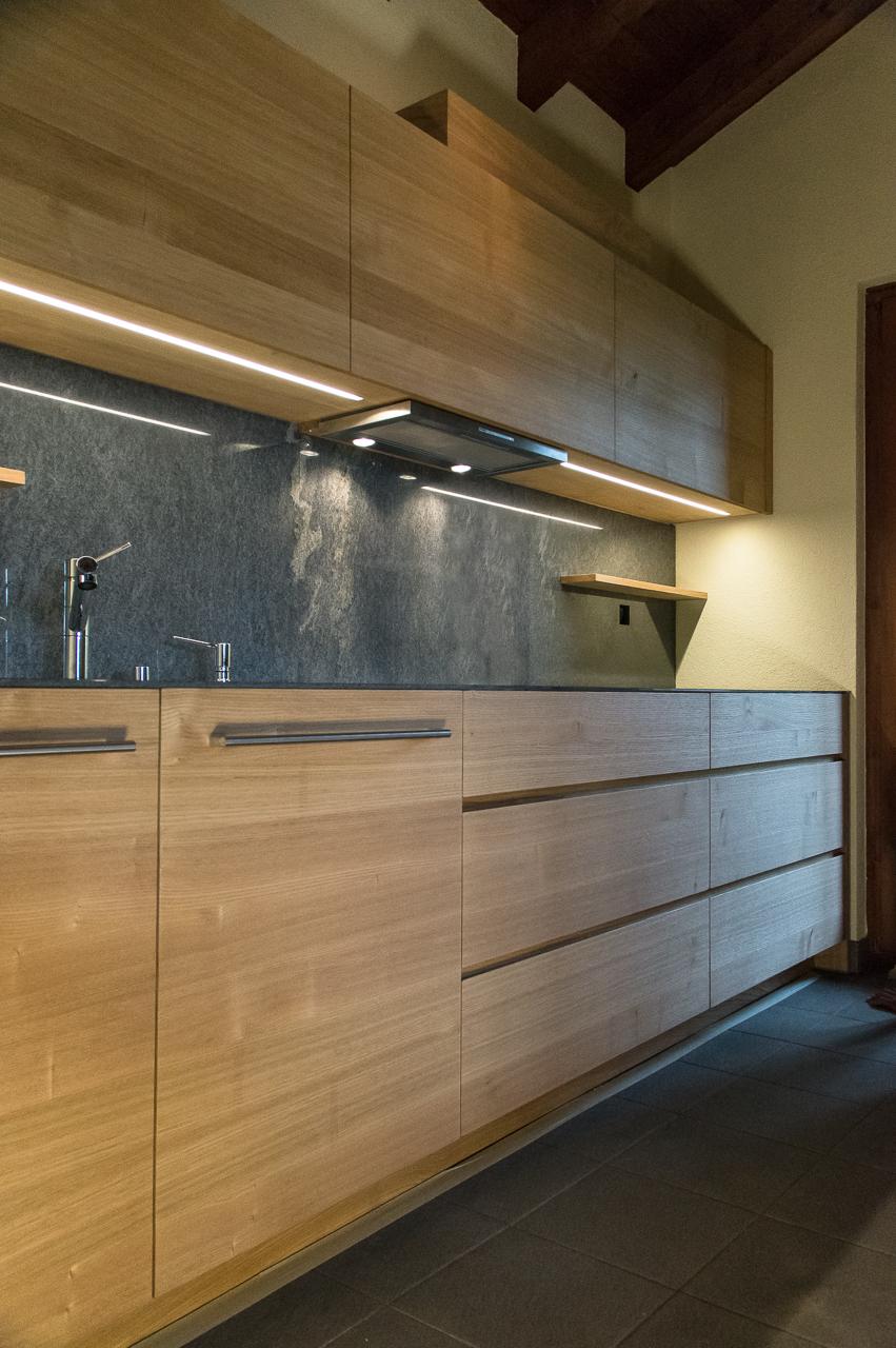 Küche in Kastanie für privat