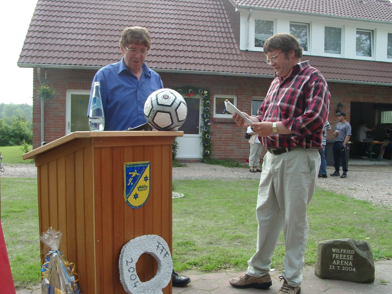 Vorsitzender Johann Burmeister vom SV Hage