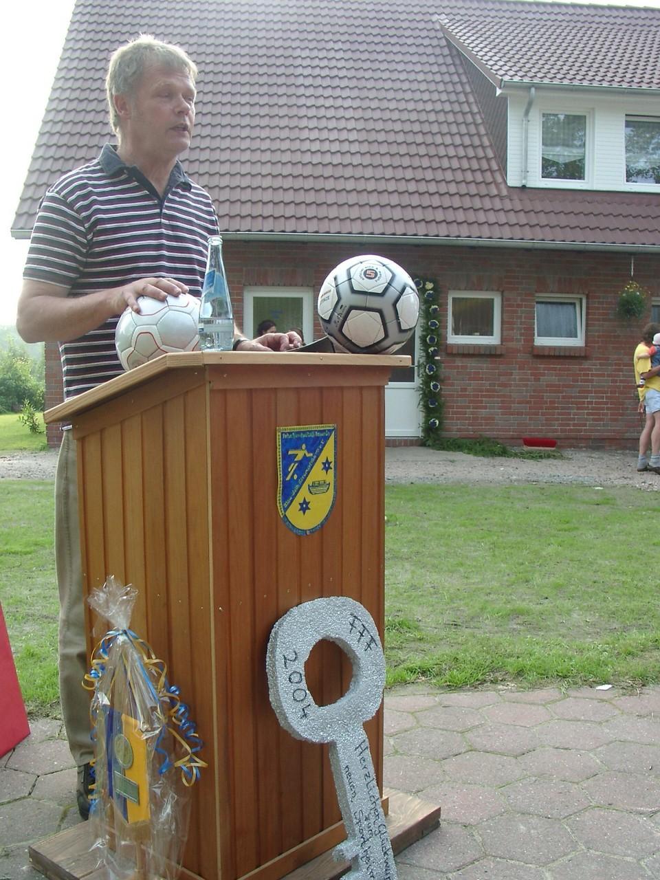 Hinrich Gast als Vertreter der Gemeinde Großheide