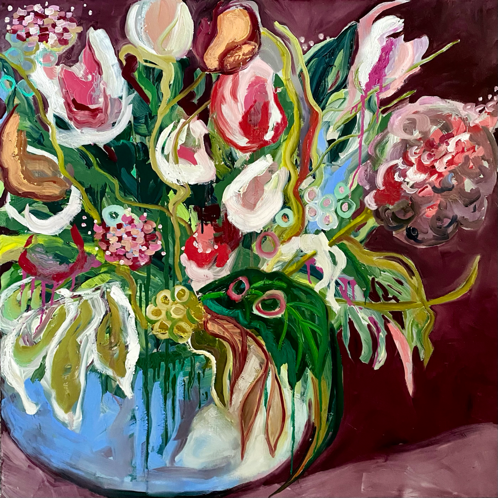"""""""Tulips and more"""" 90 x 90"""