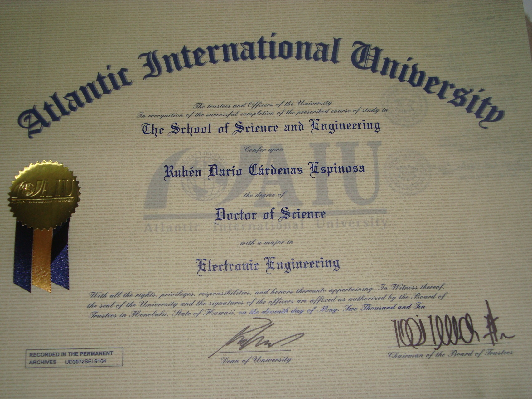 DSc Electronic Engineering