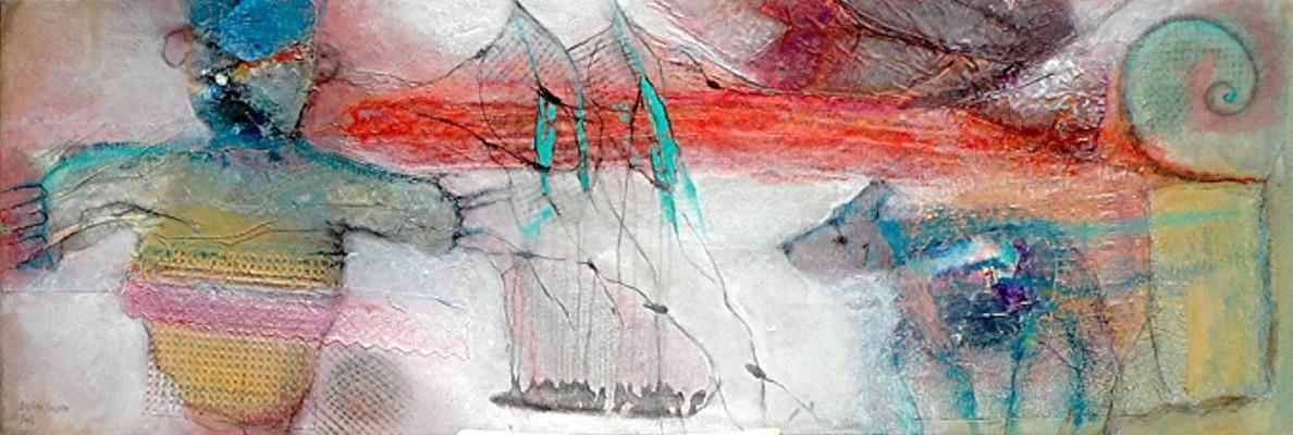 Le corbeau et le renard, Pigmente,Material,Lwd,60 x 175,2008