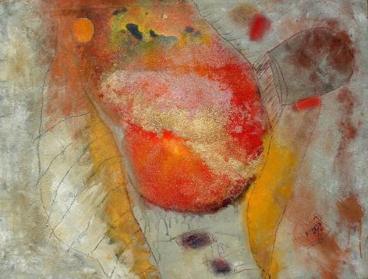 Schwangerschaft.Acryl auf Lwd., 80 x100, 2007