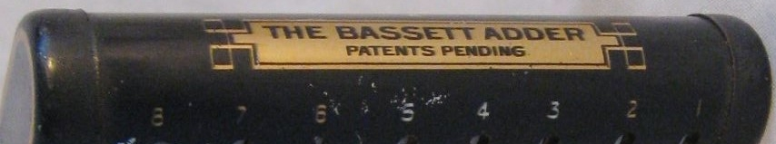 En el lateral: The BASSETT Adder, Patents Pending