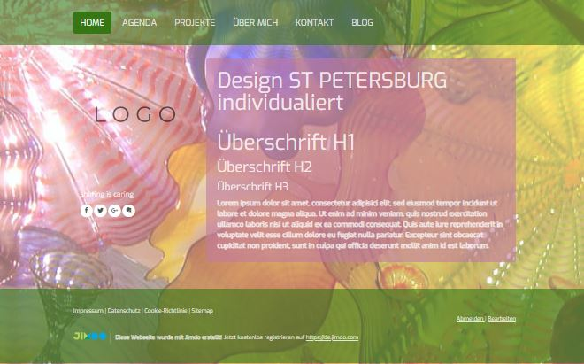 Jimdo Designvorlage ST. PETERSBURG