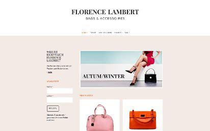Jimdo Design-Vorlage Florence V1