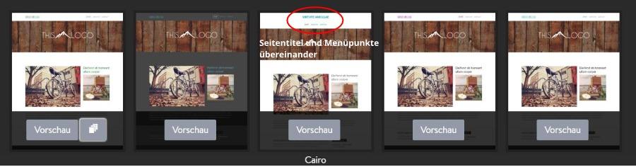 Jimdo Designvorlage Cairo - Untervarianten