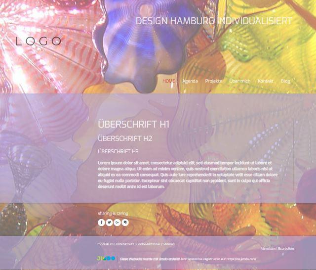 Jimdo Designvorlage HAMBURG