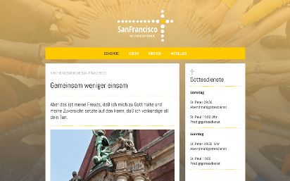 Jimdo Design-Vorlage San Francisco V3