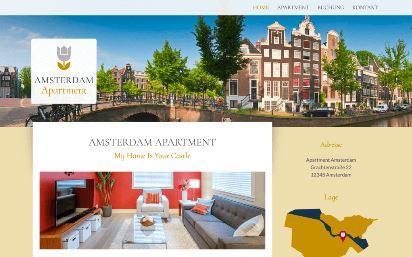 Jimdo Design-Vorlage Amsterdam V3